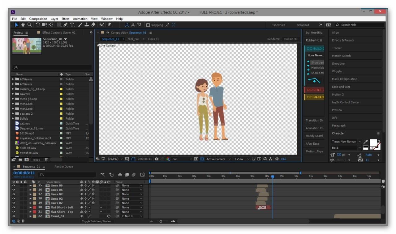 Скриншот графического ролика