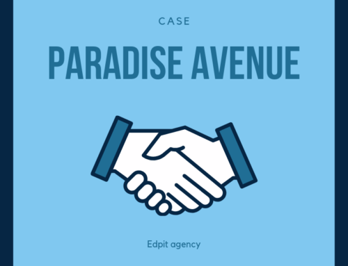 Case advertising by Paradise Avenue