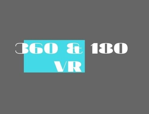 Virtual reality. Video 360 and VR 180